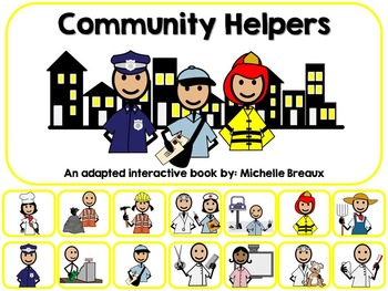 Community Helpers Adapted Interactive 5 Book Bundle Special Education, Autism
