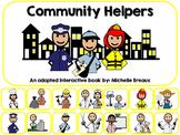 Community Helpers Adapted Interactive Book Autism, SLP, Sp
