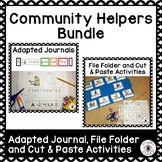 Community Helpers Adapted Journals, File Folder and Cut & Paste Activities