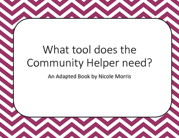 Community Helpers Adapted Materials for Special Education Level 1-VAAP