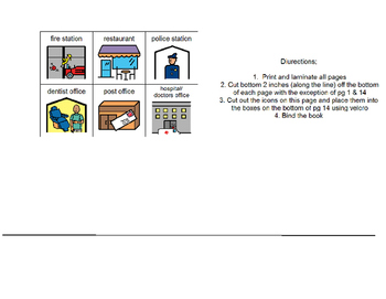 Community Helpers-Adapted book