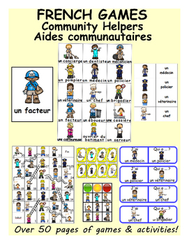 Community Helpers / Aides communautaires FRENCH Games