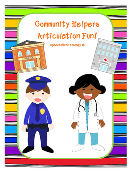 Community Helpers Articulation Packet