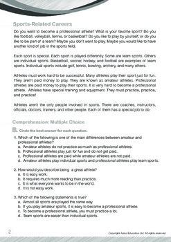 Community Helpers - Athletes - Grade 5
