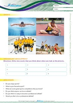 Community Helpers - Athletes and Sports-Related Careers - Grade 6