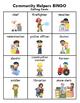 Community Helpers BINGO + 12 bonus pages of vocabulary words
