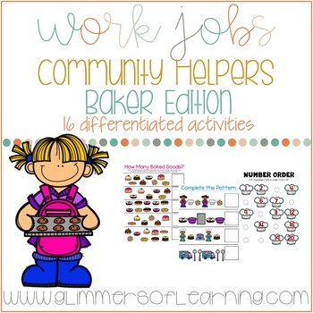 Community Helpers: Bakers Edition Work Jobs