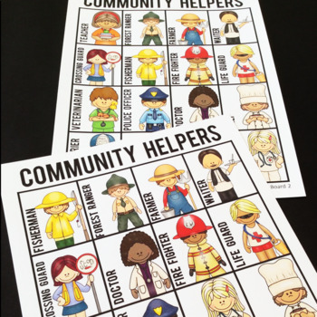 Community Helpers/ Occupations Bingo Game
