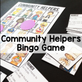 Community Helpers and Occupations Bingo Game