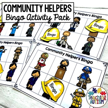 Community Helpers Bingo Game