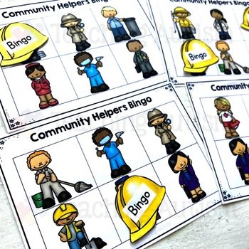 Community Helpers Bingo Activity