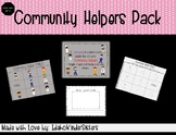 Community Helpers Bingo game and Writing activity