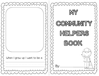 Community Helpers Book - Beginning and Emergent Readers