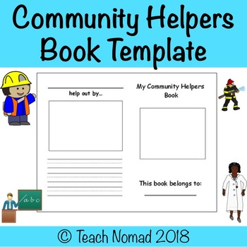 Community Helpers Book Template