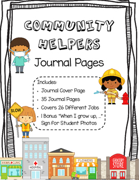 Community Helpers Book or Journal Pages