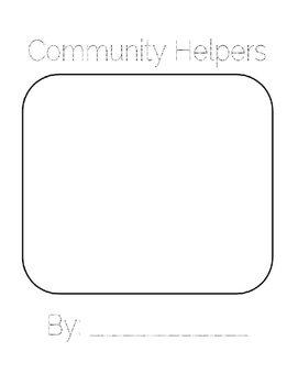Community Helpers Book with Bubble Maps