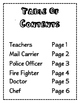 Community Helpers Booklet