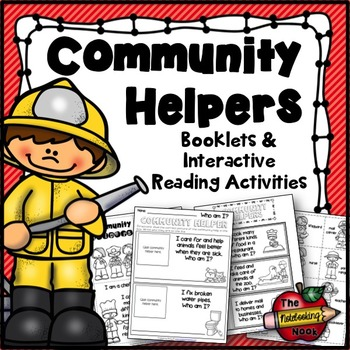 Community Helpers Booklets and Interactive Reading Activities
