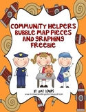 Community Helpers Bubble Map and Graphing FREEBIE