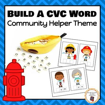 Community Helpers Build a CVC Word - S