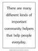 Community Helpers Bulletin Board Posters