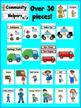 Community Helpers - Bulletin Board Set