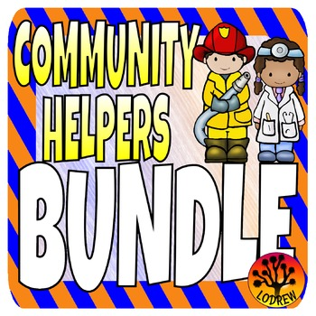 Community Helpers Centers Activities Bundle Math Literacy