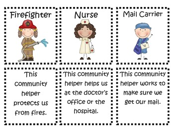 Community Helpers Bundle- Posters, Discussion Cards, Game, Booklet, Writing