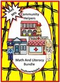 Community Helpers Activities BUNDLE Cut and Paste Activities File Folder Games