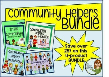 Community Helpers Bundle for K-2 - Clip Art, Workbook, Fli