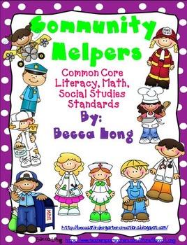 Community Helpers CC Social Studies, Literacy & Math