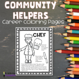 Community Helpers Career Coloring Pages