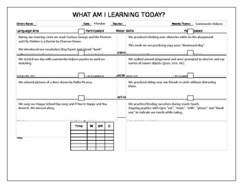 Community Helpers - Career Week Daily Lesson Plans and Vocabulary