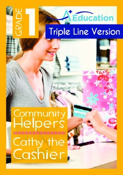 Community Helpers - Cathy the Cashier  (with 'Triple-Track Writing Lines')