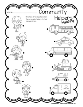 Community Helpers Center Activity and Puzzles