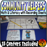 Community Helpers Centers Activities Literacy Math Fine Motor