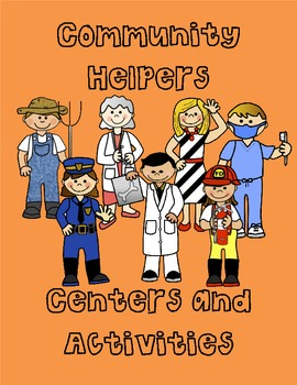 Community Helpers Math and Literacy Centers