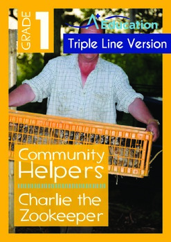 Community Helpers - Charlie the Zookeeper (with 'Triple-Track Writing Lines')