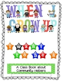 Community Helpers Class Book - Title Page & Student Page