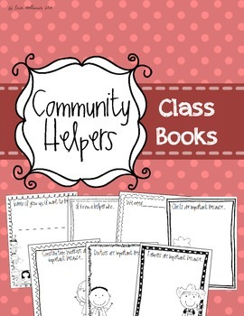 Community Helpers Class Books - Preschool Social Studies