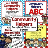 Community Helpers Classroom Bundle for Preschool, PreK, K, & Homeschool!