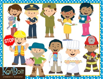 community helpers clip art by kari bolt clip art tpt rh teacherspayteachers com community helpers clipart teacher community helpers clipart black and white