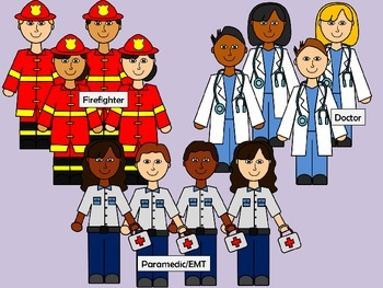 Community Helpers Clip Art - 78 .png images for commercial or personal use