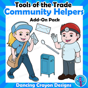 Community Helpers Clip Art - ADD-ON Pack - Dentist and Mail Carrier