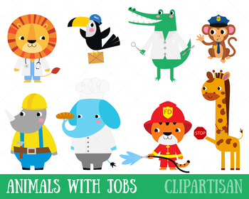 Community Helpers Clip Art, Animals with Occupations