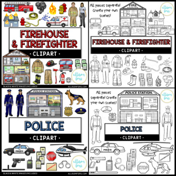 Community Helpers Clip Art Bundle