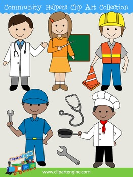 Community Helpers Clip Art Collection
