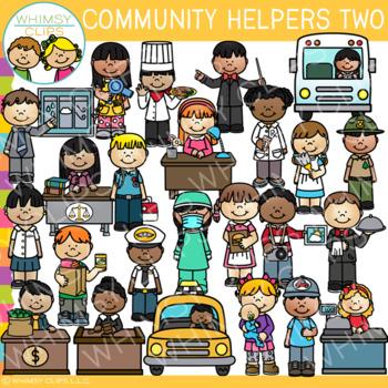 Community Helpers Clip Art Set Two