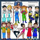Community Helpers Clip Art -Color and B&W- 48 items!