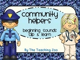 Community Helpers Clip & Learn Beginning Sounds